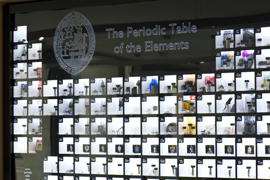Periodic table display displays RGB Research periodictable elements chemistry science installations scientific